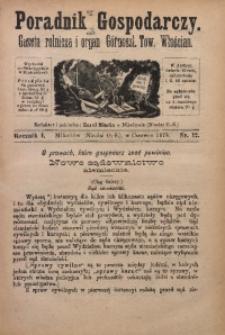 Poradnik Gospodarczy, 1879, R. 1, Nr. 12