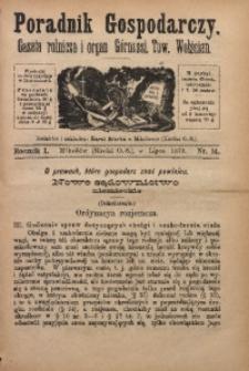 Poradnik Gospodarczy, 1879, R. 1, Nr. 14