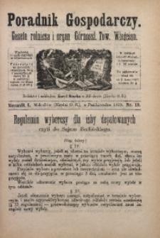 Poradnik Gospodarczy, 1879, R. 1, Nr. 19