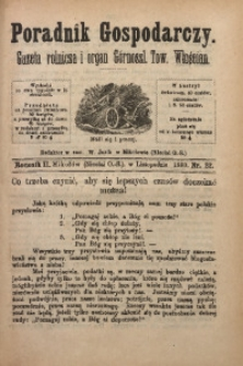 Poradnik Gospodarczy, 1880, R. 2, Nr. 22