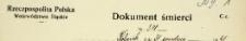 Dowody do akt zgonu - 1925 r. - alegata