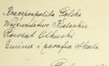Dowody do akt zgonu - 1926 r. - alegata