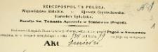 Dowody do akt zgonu - 1934 r. - alegata