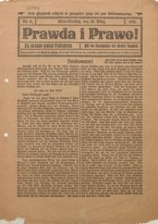 Prawda i Prawo dla Górników Powiatu Prudnickiego, 1921, Nr. 6