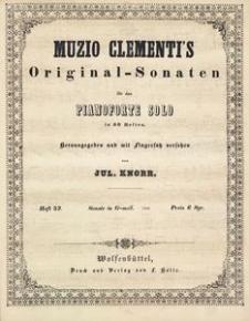 Muzio Clementi's Original-Sonaten für das Pianoforte Solo in 60 Heften. Heft 32, Sonate in G-moll