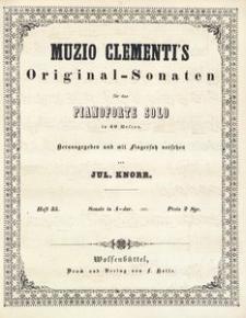 Muzio Clementi's Original-Sonaten für das Pianoforte Solo in 60 Heften. Heft 35, Sonate in A-dur