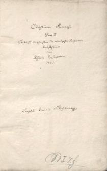 Christiani Rungii Scriptores Silesiae : Pars II. Sectio III. Ecclesiastica. De Rebus gestis Silesiorum Ecclesiasticis sive Historia Episcoporum 1741