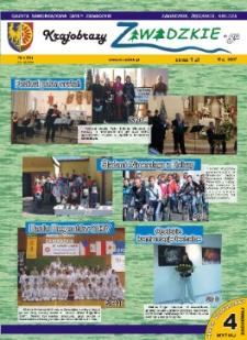 Krajobrazy Zawadzkiego : gazeta samorządowa gminy Zawadzkie : Zawadzkie, Żędowice, Kielcza 2007, nr 4 (99).