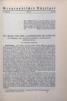 Geographischer Anzeiger, 1935, Jg. 36, H. 14