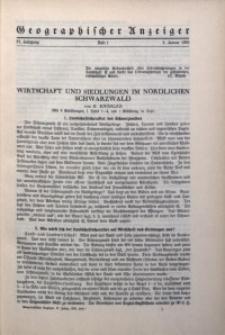 Geographischer Anzeiger, 1936, Jg. 37, H. 1