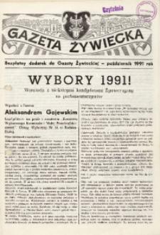 """Wybory 1991! Bezpłatny dodatek do """"Gazety Żywieckiej"""" - październik 1991 rok"""
