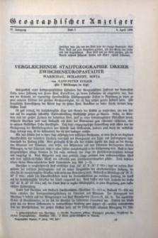 Geographischer Anzeiger, 1936, Jg. 37, H. 7