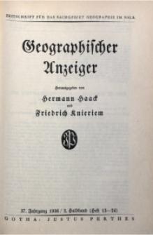 Geographischer Anzeiger, 1936, Jg. 37, H. 13