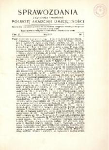 Sprawozdania z Czynności i Posiedzeń Polskiej Akademii Umiejętności, 1935, T. 40, Nr 5