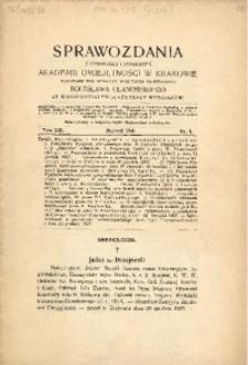 Sprawozdania z Czynności i Posiedzeń Akademii Umiejętności w Krakowiei, 1908, T. 13, Nr 1