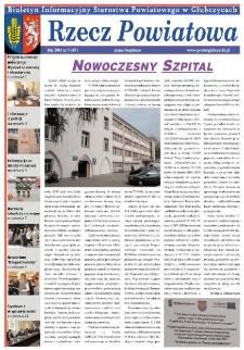 Rzecz Powiatowa : biuletyn informacyjny Starostwa Powiatowego w Głubczycach 2011, nr 5.