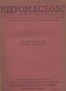 Niepodległość, T. 14 (lipiec 1936 - grudzień 1936)