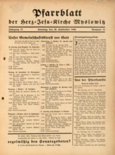Pfarrblatt der Herz-Jesu-Kirche Myslowitz, 1940, Jg. 12, Nr. 14