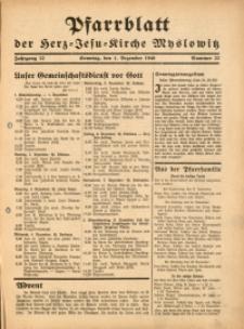 Pfarrblatt der Herz-Jesu-Kirche Myslowitz, 1940, Jg. 12, Nr. 23
