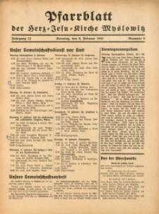 Pfarrblatt der Herz-Jesu-Kirche Myslowitz, 1941, Jg. 13, Nr. 6