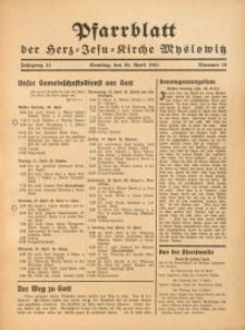 Pfarrblatt der Herz-Jesu-Kirche Myslowitz, 1941, Jg. 13, Nr. 16