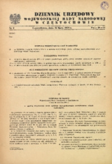 Dziennik Urzędowy Wojewódzkiej Rady Narodowej w Częstochowie, 1979, Nr 2