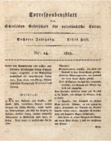 Correspondenzblatt, 1815, Jg. 6, H. 1, Nr. 14