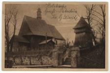 Holzkirche mit Glockenturm Gross-Patschin, Kr. Gleiwitz