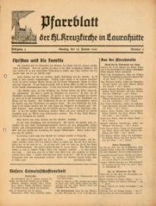 Pfarrblatt der Hl. Kreuzkirche in Laurahütte, 1941, Jg. 6, Nr. 2