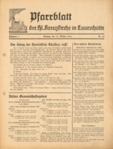 Pfarrblatt der Hl. Kreuzkirche in Laurahütte, 1940, Jg. 5, Nr. 43