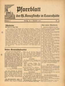 Pfarrblatt der Hl. Kreuzkirche in Laurahütte, 1940, Jg. 5, Nr. 44