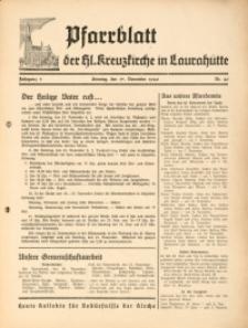 Pfarrblatt der Hl. Kreuzkirche in Laurahütte, 1940, Jg. 5, Nr. 46