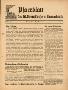 Pfarrblatt der Hl. Kreuzkirche in Laurahütte, 1940, Jg. 5, Nr. 48