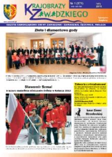 Krajobrazy Zawadzkiego : gazeta samorządowa gminy Zawadzkie : Zawadzkie, Żędowice, Kielcza 2015, nr 1 (171).