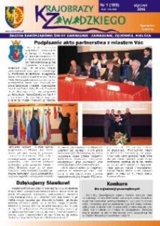 Krajobrazy Zawadzkiego : gazeta samorządowa gminy Zawadzkie : Zawadzkie, Żędowice, Kielcza 2016, nr 1 (180).