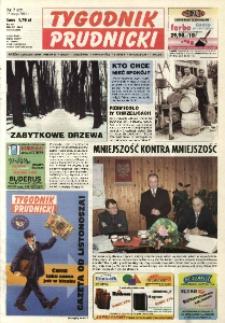 Tygodnik Prudnicki : gazeta lokalna gmin : Prudnik, Biała, Głogówek, Korfantów, Lubrza, Strzeleczki, Walce. R. 14, nr 7 (637).