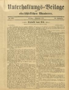 Unterhaltungs-Beilage zum Oberschlesischen Wanderer, 1911, Jg. 84, Nr. 276
