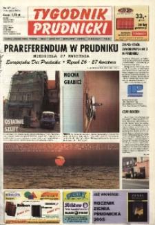 Tygodnik Prudnicki : gazeta lokalna gmin : Prudnik, Biała, Głogówek, Korfantów, Lubrza, Strzeleczki, Walce. R. 14, nr 17 (647).