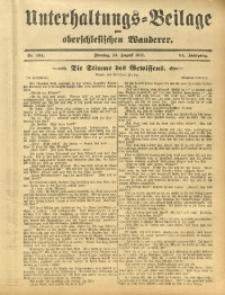 Unterhaltungs-Beilage zum Oberschlesischen Wanderer, 1911, Jg. 84, Nr. 184