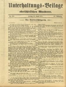 Unterhaltungs-Beilage zum Oberschlesischen Wanderer, 1911, Jg. 84, Nr. 194