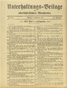 Unterhaltungs-Beilage zum Oberschlesischen Wanderer, 1911, Jg. 84, Nr. 202