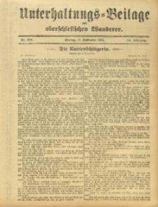 Unterhaltungs-Beilage zum Oberschlesischen Wanderer, 1911, Jg. 84, Nr. 208