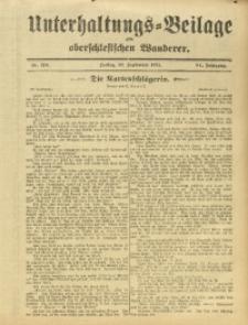 Unterhaltungs-Beilage zum Oberschlesischen Wanderer, 1911, Jg. 84, Nr. 218