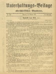 Unterhaltungs-Beilage zum Oberschlesischen Wanderer, 1911, Jg. 84, Nr. 245