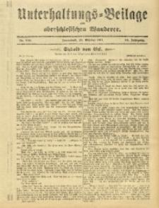 Unterhaltungs-Beilage zum Oberschlesischen Wanderer, 1911, Jg. 84, Nr. 249