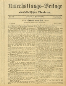 Unterhaltungs-Beilage zum Oberschlesischen Wanderer, 1911, Jg. 84, Nr. 254