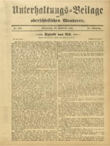 Unterhaltungs-Beilage zum Oberschlesischen Wanderer, 1911, Jg. 84, Nr. 269