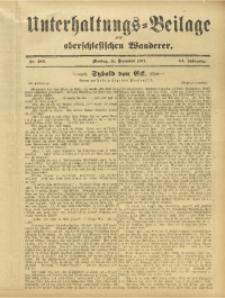 Unterhaltungs-Beilage zum Oberschlesischen Wanderer, 1911, Jg. 84, Nr. 283