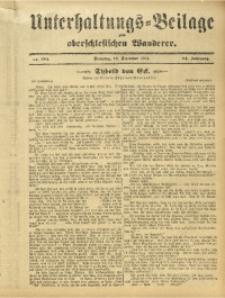 Unterhaltungs-Beilage zum Oberschlesischen Wanderer, 1911, Jg. 84, Nr. 284