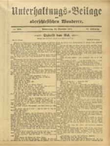 Unterhaltungs-Beilage zum Oberschlesischen Wanderer, 1911, Jg. 84, Nr. 286